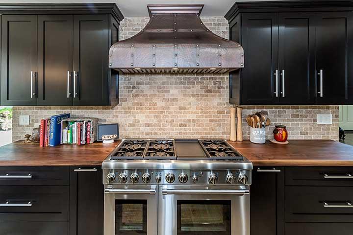 Custom kitchen hood and stove